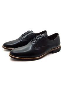 Sapato Social Inglês Couro Avalon Stone Preto