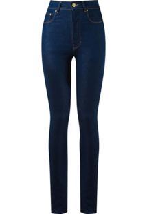 Amapô Calça Jeans Skinny Cintura Alta - Azul