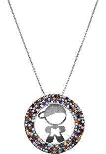 Colar Mandala Menino Magic Colors Prata 925