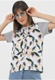 Camiseta Roxy Lunas Shir Cinza