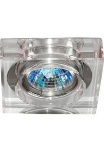Spot Embutir Quadrado Cristal Cromado 1,5X7Cm 35W Bella Iluminação Bivolt
