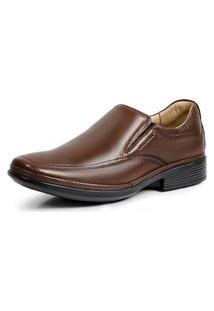 Sapato Social Masculino Mestiço Conforto Levecomfort - 45901 Marrom