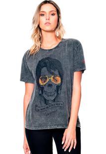 Camiseta Estonada Skull Elvis Useliverpool Preta