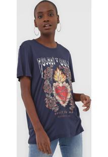 Camiseta Colcci Coração Azul-Marinho - Kanui