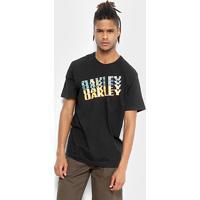 Camiseta Oakley Bark Camo Tee Masculina - Masculino-Preto c68f9952578b3