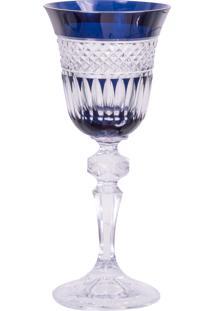 Taça De Cristal Lodz Para Licor De 60Ml – Azul