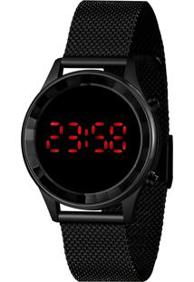 Relógio Lince Feminino Fashion Digital Preto Ldn4647L-Pxpx