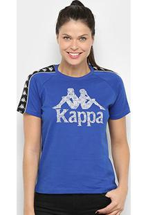 Camiseta Kappa Authentic Feminina - Feminino-Azul Royal