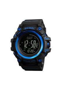Relógio Skmei Digital -1358- Preto E Azul