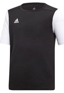 Camisa Infantil Adidas Estro 19 - Masculino-Preto