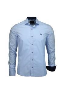 Camisa Social Amil Slim 1567 Azul Bebê