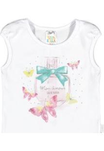 Blusa Feminino Bebê - Feminino-Branco
