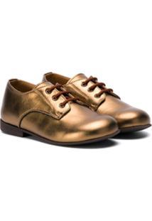 Pépé Kids Sapato Oxfords Metálico - Dourado