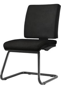 Cadeira Simple Assento Courino Base Fixa Preta - 54968 - Sun House