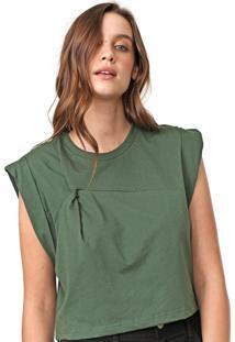 Camiseta Colcci Torção Verde