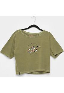 Camiseta Cantão Babylook Cropped Cobra Feminina - Feminino