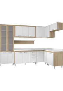 Cozinha Completa Edéia Ii 16 Pt 3 Gv Argila E Branco
