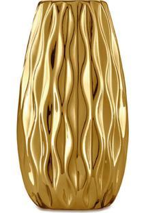 Vaso Urano Dourado 12X6 Cm