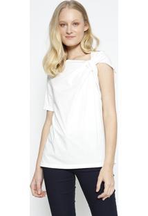 Camiseta Lisa Com Torã§Ã£O - Branca - Colccicolcci