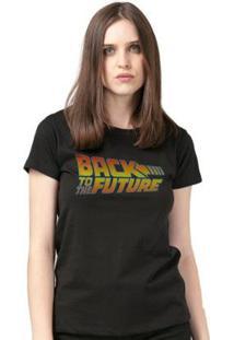 Camiseta Bandup! Back To The Future Logo - Feminino