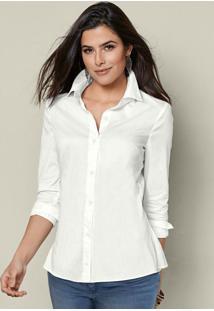 Camisa Social De Botões Branca