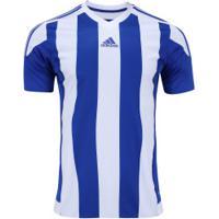 Camiseta Adidas Striped - Masculina - Azul Branco 1b007d0a0e6d6