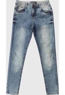 Calça Jeans Patria Brasil Kids Slim Kk 58472 Marmorizada