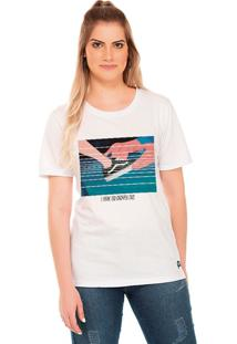 Camiseta Pump Up Ops Princess Branco - G