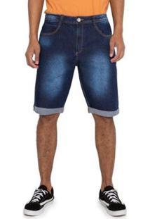 Bermuda Jeans Barra Dobrada Grupo Avenida Masculina - Masculino