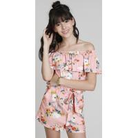 d8c3bb12ec2 Blusa Infantil Cropped Ciganinha Love Dress Estampada Floral Surf Rosê