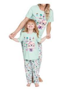 Pijama Longo Com Silk Ursinho Confeiteiro Malwee Liberta (1000004693) 100% Algodão