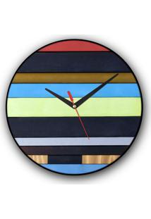 Relógio De Parede Colours Creative Photo Decor Decorativo, Criativo E Diferente - Livros