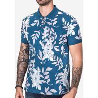 d03038d998 Polo Hermoso Compadre Folhas Masculina - Masculino-Azul