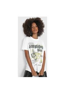 Camiseta Colcci Amplified Branca/Verde