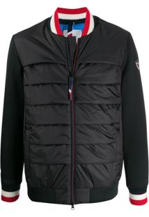 Rossignol Contrasting Sleeves Padded Bomber Jacket - Preto