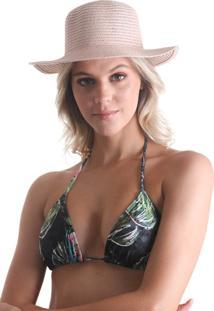 Chapéu Colorido Aba Pequena - Nude - Líquido