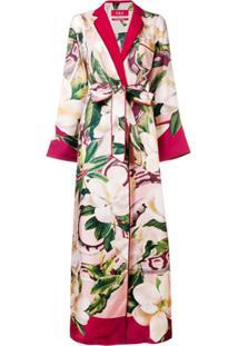 F.R.S For Restless Sleepers Vestido Quimono Floral - Vermelho