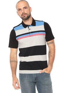 Camisa Polo Hurley Reta Listrada Preta Cinza e4d3b5feb2a69