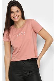 Camiseta Roxy Baschique Feminina - Feminino-Rosa