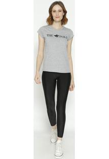 """Camiseta """"The Polo ®""""- Cinza & Pretaclub Polo Collection"""