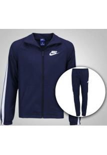 Agasalho Nike Track Suit - Masculino - Azul Esc/Branco
