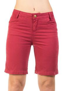 Bermuda Jeans Detalhe Strass Realist