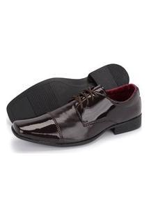 Sapato Social Masculino Em Verniz Schiareli Marrom