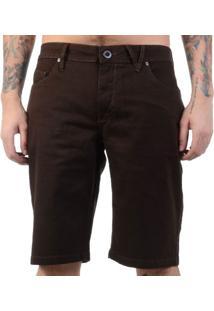 Bermuda Jeans Volcom Chocolatevoria - Marrom / 40