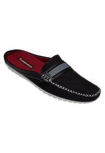 Sapato Mule Masculino Estilo Shoes Db110 Preto