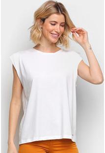Camiseta Colcci Básica Feminina - Feminino-Areia