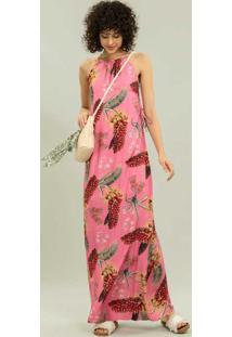 Vestido Longo Amarração Floriade - Lez A Lez