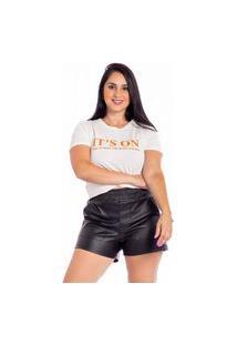 T-Shirt Maranne Torção Estampa On Bege