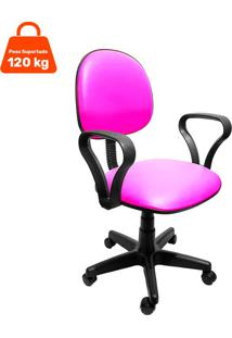 Cadeira De Escritório Secretária Mazikeen Ajustável Rosa