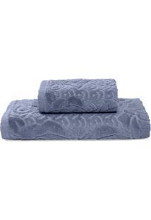 Jogo De Toalhas De Banho Pietra- Azul Escuro- 2Pã§S